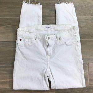 Hudson Krista Skinny Ankle Jeans White 32